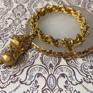Vintage Monet Gold Plated Bolero Bracelet